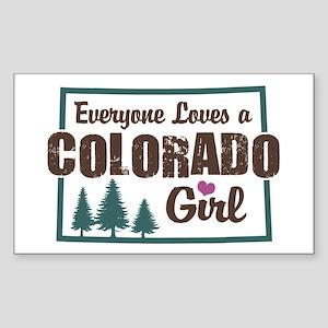 Colorado Girl Rectangle Sticker
