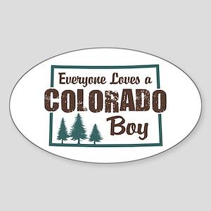 Colorado Boy Oval Sticker