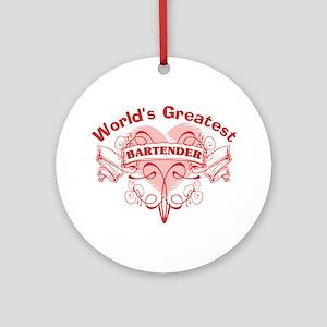 World's Greatest Bartender Ornament (Round)