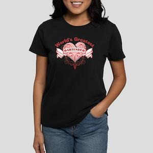 World's Greatest Bartender Women's Dark T-Shirt