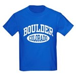 Boulder Colorado Kids Dark T-Shirt