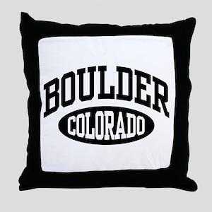 Boulder Colorado Throw Pillow