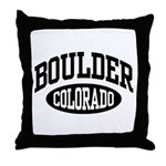 Boulder Colorado Throw Pillow