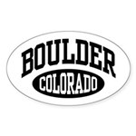 Boulder Colorado Oval Sticker (10 pk)