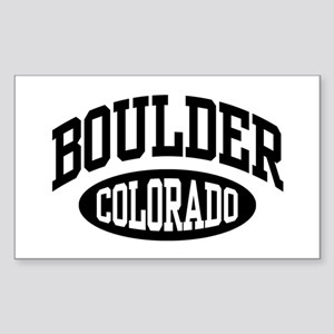 Boulder Colorado Rectangle Sticker