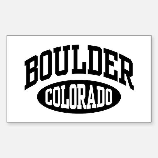 Boulder Colorado Rectangle Decal