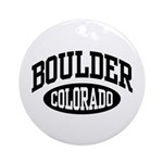 Boulder Colorado Ornament (Round)