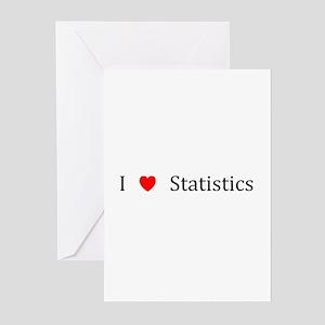 I Heart Statistics Greeting Cards (Pk of 10)