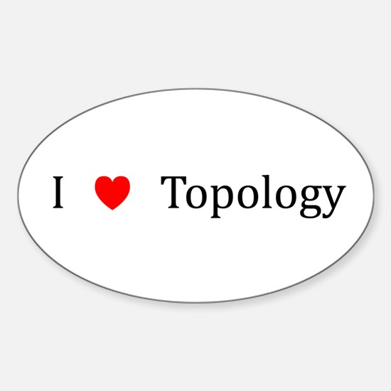 I Heart Topology Oval Decal