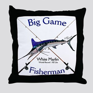 White Marlin Throw Pillow