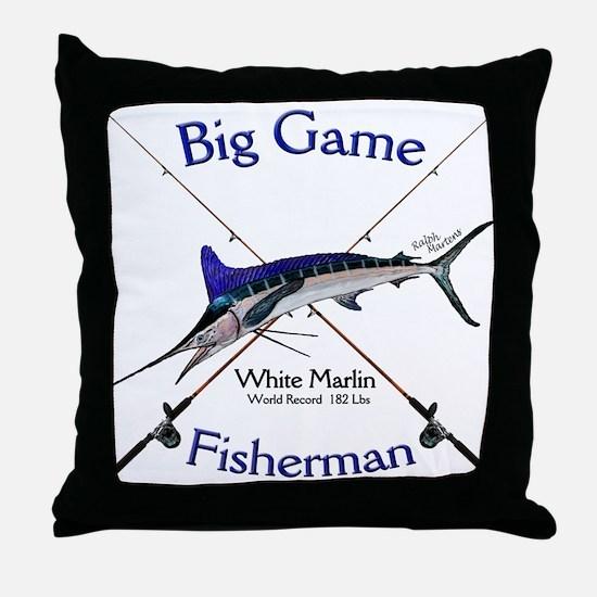 White Marlin Throw Pillow