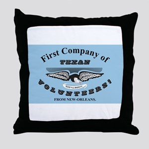 New Orleans Greys Flag Throw Pillow