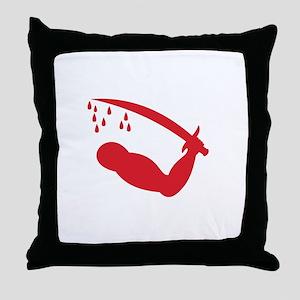 Dimmit's Goliad Flag Throw Pillow