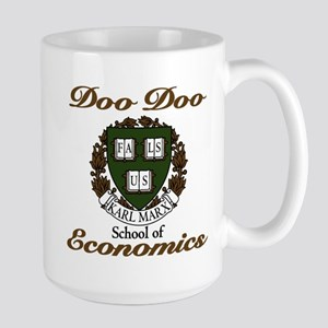 Karl Marx school of Doo Doo E Large Mug