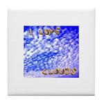 I Love Clouds Ceramic Tile Coaster / Trivet