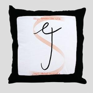 Eliza Joe Initials Throw Pillow