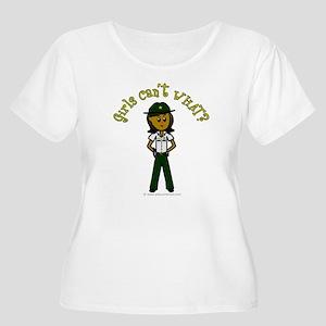 Dark Green Sheriff Women's Plus Size Scoop Neck T-