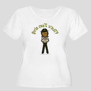 Dark Brown Sheriff Women's Plus Size Scoop Neck T-