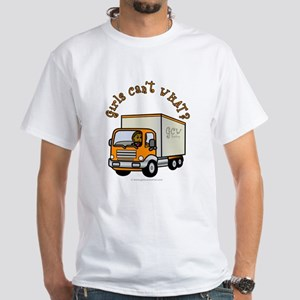Dark Truck Driver White T-Shirt
