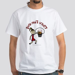 (Lady Torches-1) Basketball White T-Shirt