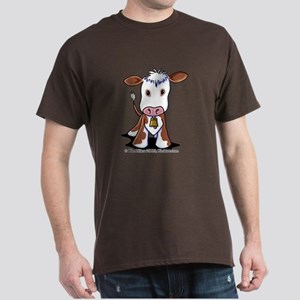 Brown and White COW Dark T-Shirt