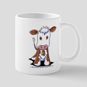 Brown and White COW Mug