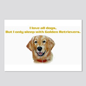 I only sleep with Goldens Postcards (Package of 8)