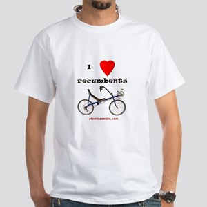 I love recumbents Adult T-Shirt (white)