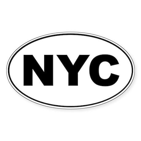 NYC Oval Sticker (50 pk)