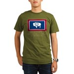 Wyoming Proud Citizen Organic Men's T-Shirt (dark)