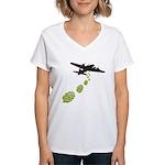 Hop Bomber Women's V-Neck T-Shirt