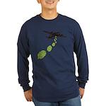 Hop Bomber Long Sleeve Dark T-Shirt
