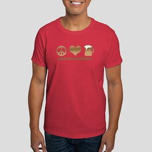 Peace, Love, Homebrew Dark T-Shirt