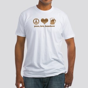 Peace, Love, Homebrew Fitted T-Shirt