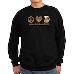 Peace, Love, Homebrew Sweatshirt (dark)
