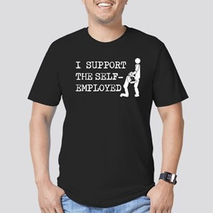 I Support Self-Employed Men's Fitted T-Shirt (dark