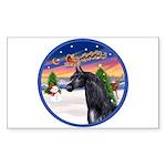 TakeOff2/Horse (Ar-blk) Rectangle Sticker