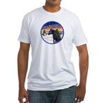 TakeOff2/Horse (Ar-blk) Fitted T-Shirt