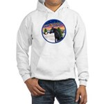 TakeOff2/Horse (Ar-blk) Hooded Sweatshirt