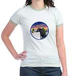 TakeOff2/Horse (Ar-blk) Jr. Ringer T-Shirt
