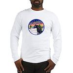 TakeOff2/Horse (Ar-blk) Long Sleeve T-Shirt
