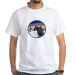 TakeOff2/Horse (Ar-blk) White T-Shirt