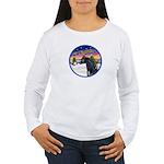 TakeOff2/Horse (Ar-blk) Women's Long Sleeve T-Shir