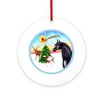 TakeOff2/Horse (Ar-blk) Ornament (Round)