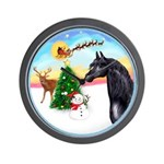 TakeOff2/Horse (Ar-blk) Wall Clock