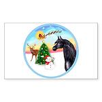 TakeOff2/Horse (Ar-blk) Rectangle Sticker 10 pk)