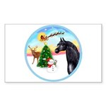 TakeOff2/Horse (Ar-blk) Rectangle Sticker 10 pk)