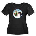 TakeOff2/Horse (Ar-blk) Women's Plus Size Scoop Ne