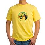 TakeOff2/Horse (Ar-blk) Yellow T-Shirt