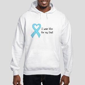 I wear Blue for my Dad Hooded Sweatshirt